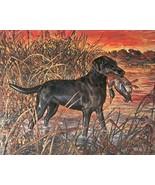 Vtg HUNTING BIRD DOG Calendar Art PRINT by FENE... - $18.50