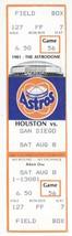 San Diego Padres @ Houston Astros 8/8/81 Phantom Season Ticket Holder Ti... - $2.96