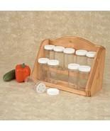Spice Rack - Kitchen Counter Storage - 10 Glass Jars   - $29.95
