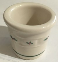 Longaberger Pottery Woven Traditions -CHRISTMAS HOLLY CANDLE VOTIVE- HOL... - $4.90