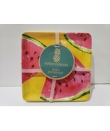 Outdoor Collection Watermelon MELAMINE Desert Side Plates 4pc - $24.74