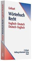 Wrterbuch Recht. Deutsch - Englisch / Englisch Deutsch [Paperback] - $29.88