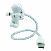 Night Light Lamp For Computer White Flexible Spaceman Astronaut USB Tube... - $151,60 MXN
