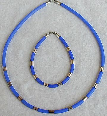 Light blue necklace pendant 2