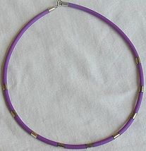 Purple caucciu necklace   - $16.00