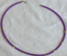 Purple caucciu necklace 1 thumb200