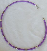 Purple caucciu necklace 3 thumb200