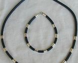 Black caucciu necklace bracelet thumb155 crop