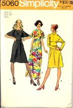 Uncut 1970s Size 12 Bust 34 Dolman Sleeve Dress Simplicity 5060 Pattern ... - $6.99