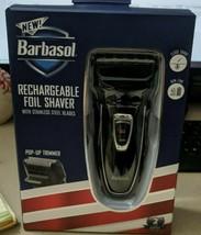 Barbasol Men's Rechargeable Foil Shaver with Pop-up Trimmer (Black) - $14.84