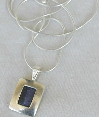 Gray cat eye pendant