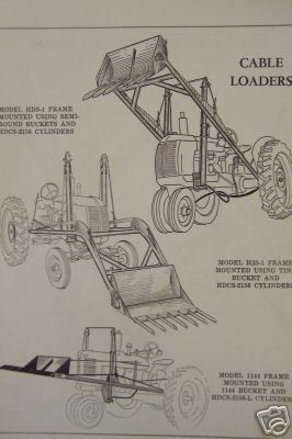 New Idea Loaders for Tractors Parts Manual - Original - 1953