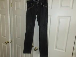 Guess , Ladies Jeans , Black , Size 28 , Vintage , Unique Design - $24.66