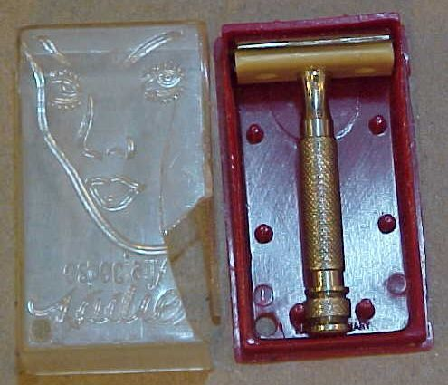 Vintage extremely rare ladies pubic safety razor