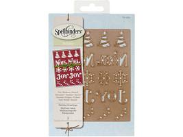 Spellbinders Holiday Greetings Die #S4-434
