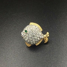 Swarovski Crystal Fish Tac Pin - $25.00