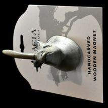 Acacia Creations Hand Carved Jacaranda Wood Safari Rhinoceros Rhino Magnet image 5