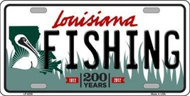 Fishing Louisiana Novelty Metal License Plate LP-6206 - $13.40