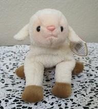 Ty Beanie Baby Ewey the Lamb Gasport Tag Error CREASED TAG - $5.93