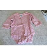 Girls Size Newborn Child Of Mine By Carter's Pink Flowered Bodysuit - $2.99