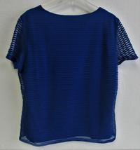 Calvin Klein Women's Stretch Textured Shirt- Regatta (Blue) Size: X-Large image 2