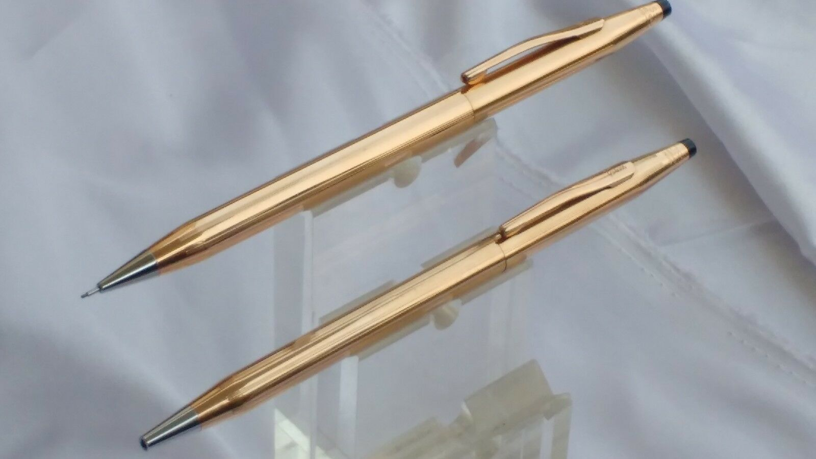 Set Of 14kt Rolled Gold Cross Classic Century Ball Pen And Mechanical Pencil