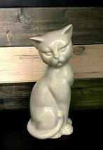 "Japan Vintage Otagiri Ceramic White Cat 8"" Figurine   - $16.99"