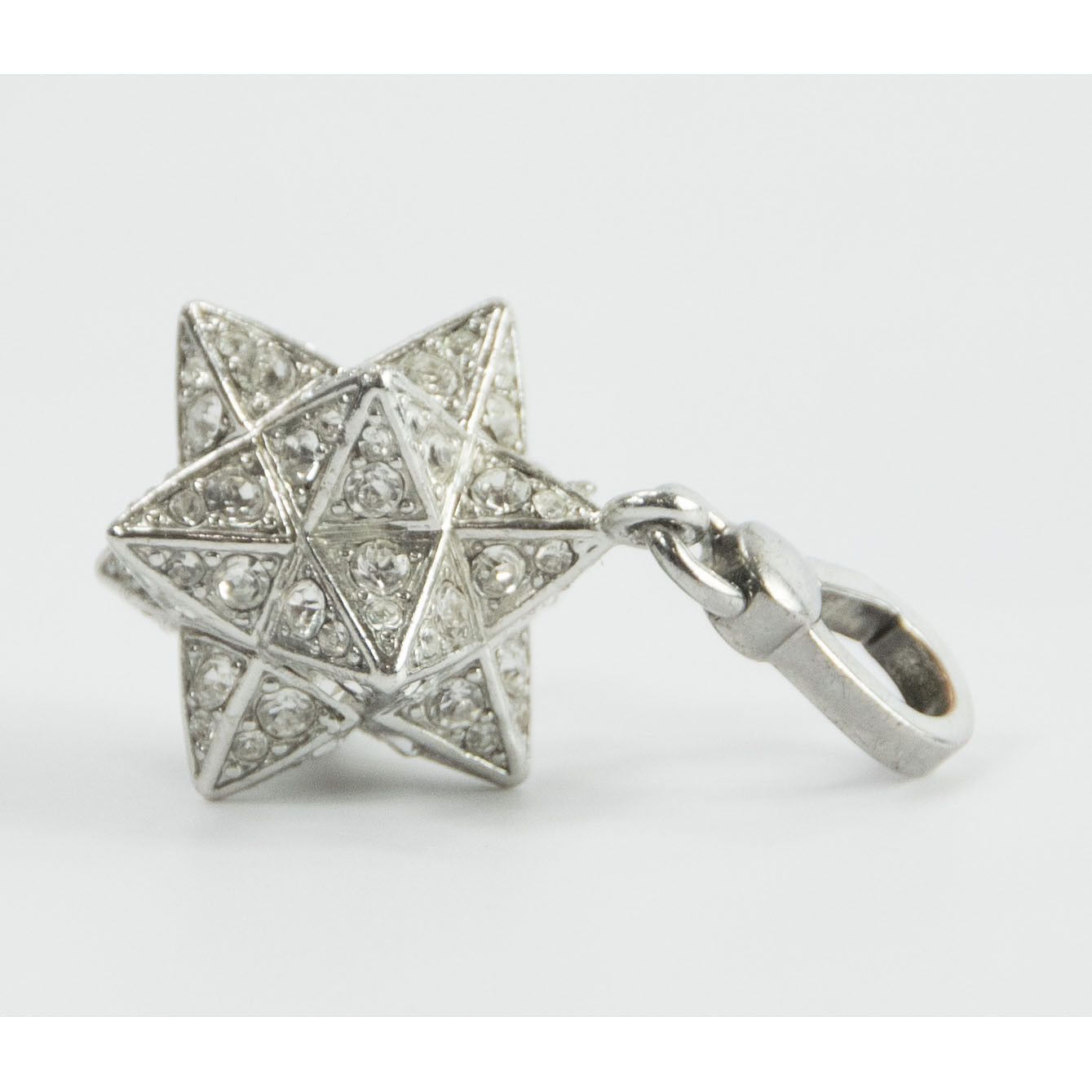 Juicy Couture Silver Crystal Large Moroccan Star FULL SIZE Bracelet Charm RARE