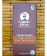 SCHARFFEN BERGER EXTRA DARK CHOCOLATE BAR 82% FINE ARTISAN NO MILK GLUTE... - $7.91