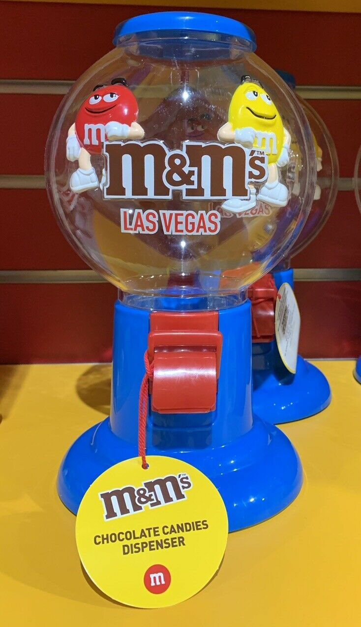 Primary image for M&M World Las Vegas  Candy Machine Dispenser Plastic New Makes Great Gift