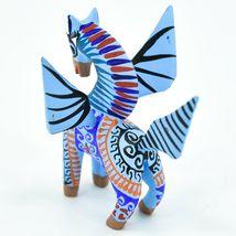Handmade Alebrijes Oaxacan Wood Carved Folk Art Pegasus Flying Horse Figurine image 3