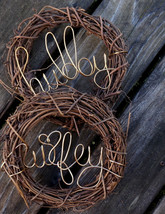Rustic Decor Chair Backs Hubby & Wifey Signs - $49.00