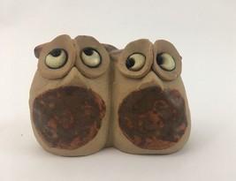 Vtg Made in England Ceramic Stoneware Owl Figurine 1970's Miniature - $15.84