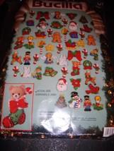 Bucilla Lotsa Christmas Set of 50 Felt Sequined... - $44.97