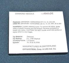4541-DE for ORTOFON CONCORDE STY-10 15 20 30 fits LM-10 15 20 20H NEEDLE STYLUS image 2