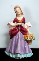 Goebel Germany Lady with Flower Basket Figurine - $19.89