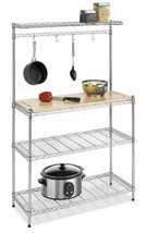 Whitmor Supreme Baker's Rack with Food Safe Removable Wood Cutting Board... - $80.48