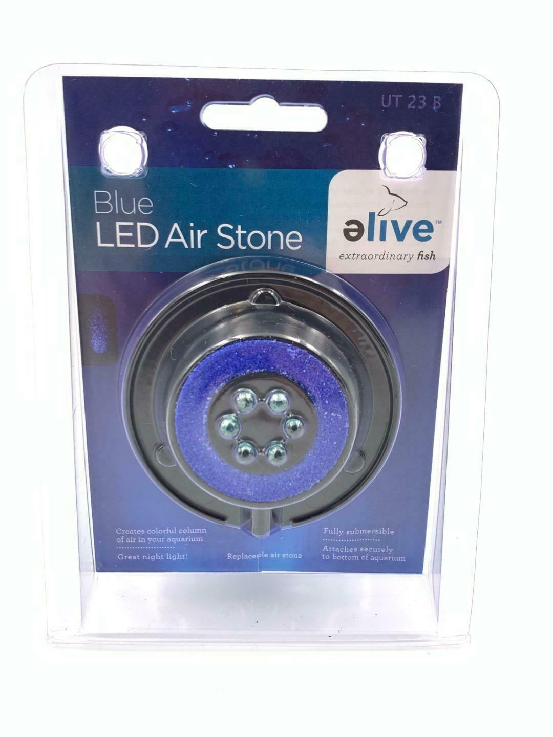 Primary image for Elive Aquarium Fish Tank Blue LED Air Stone Bubble Bubbler Suction Cup