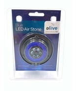 Elive Aquarium Fish Tank Blue LED Air Stone Bubble Bubbler Suction Cup - $14.99