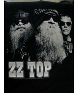 T-Shirt concert Powered by ZZ TOP tour 2012 faces Black and white XXL - $39.95