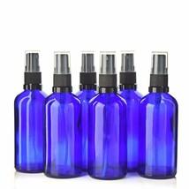 6 x 100ml Fine Mist Spray Empty Bottles Cobalt Blue Atomizer Perfume Con... - $35.52