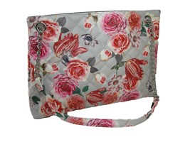 Nine West Logo Purse Satchel Hand Bag Spring Summer Floral Dielle Gray Multi NWT - $79.19