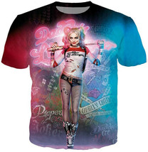 "Men/Women""s Movie Harley Quinn The Joker 3D Print Casual T-Shirt Short S... - $33.80"