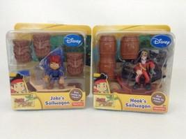 2012 Fisher Price Disney Jake Neverland Pirates Jake's & Hook's Sailwago... - $18.76