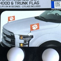 Clemson Tigers NCAA Ambassador Car Flag Set 2 Flags For Hoods Or Trunks ... - $18.95