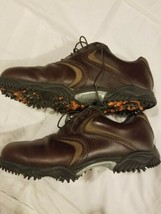 FJ Footjoy Countour Series Brown Golf Shoes Size 10m Soft Cleats PGA - $48.99
