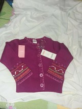 Gymboree Girls Fuchsia Sweater Size 3 with Buttons and Jewels - $33.66