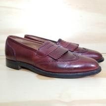 Johnston n Murphy Mens Wingtips Shoes Size 11D Maroom Black Loafers  - $15.83