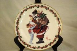 "Gorham 1988 The Christmas Hug Decorator Plate 8 5/8"" - $11.08"