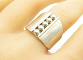 MEXICO 925 Sterling Silver - Vintage Petite Dome Detail Band Ring Sz 10 ... - $29.07